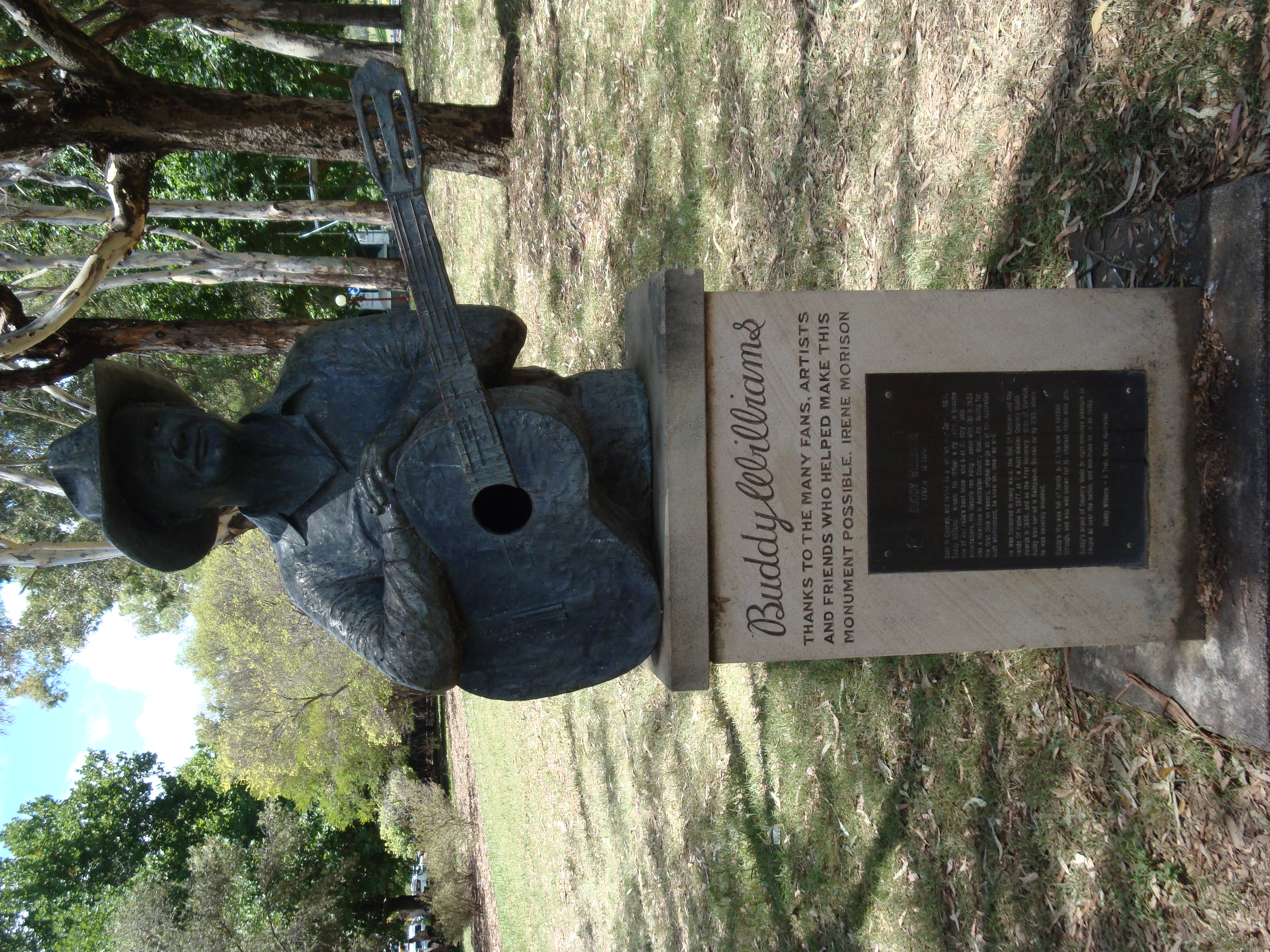 Buddy Williams' bust in Centennial Park