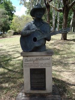 Buddy Williams' bust in Centennial Park