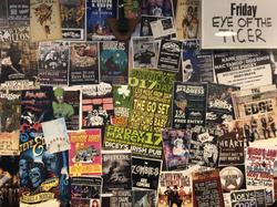 Posters at Dicey Riley's, Wollongong
