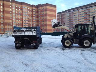 Техника компании принимает активное участие в уборке города от снега