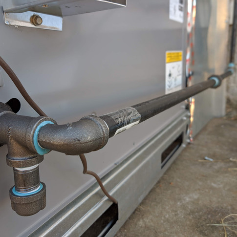gas line install plumbing
