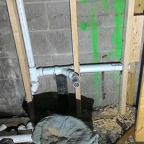 top out pvc plumbing