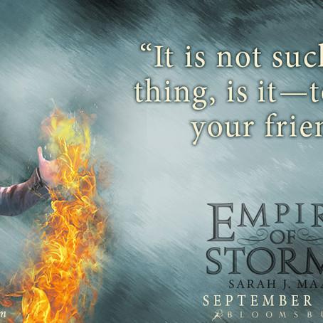 "Книжно Ревю: ""Империя на бури"" се завихря от Сара Дж. Маас"
