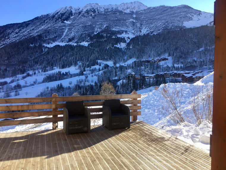 Vue de la terrasse l'hiver