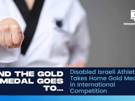 Disabled Israeli Athlete Takes Home Gold Medal in International Competition