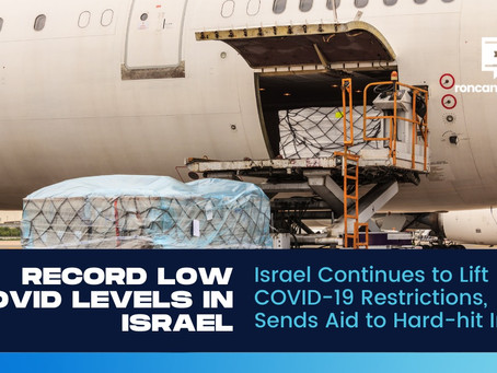 Israel Continues to Lift COVID-19 Restrictions, Sends Aid to Hard-hit India