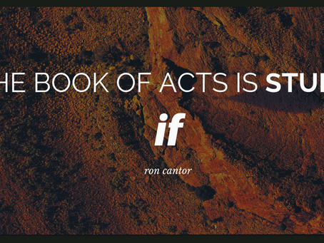 The Book of Acts is Stupid if…