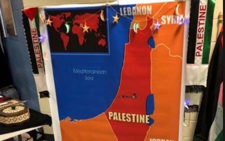 Atlanta school displays world map — WITHOUT ISRAEL!