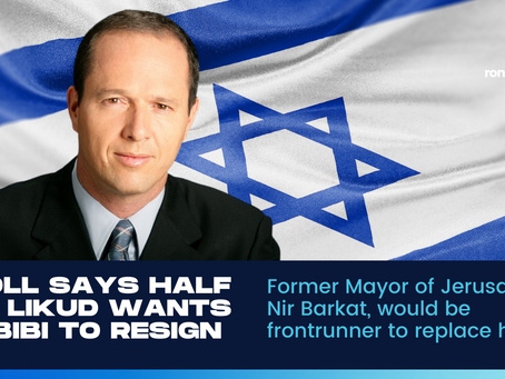 47% of Bibi's party want him to step down—How Nir Barkat could save the day for Likud