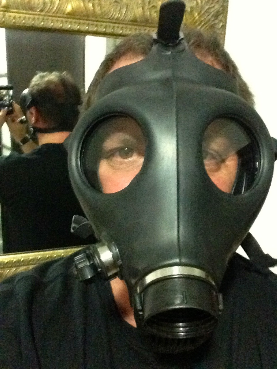 Ron in his Gas Mask