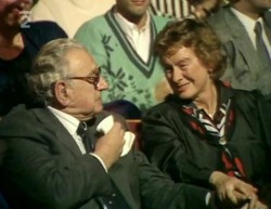 Nicholas Winton meets one of the young ladies he rescued 50 years later!