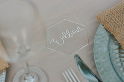 #11 Hexagon Acrylic Place Cards