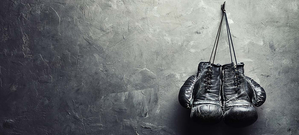 an image of a pair of boxing gloves hanging from a wall