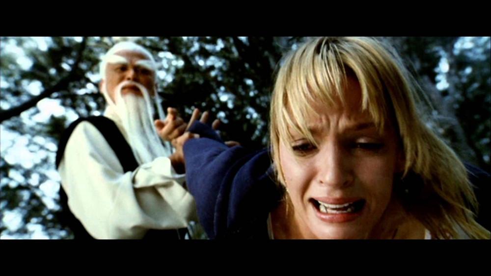 scene from Kill Bill where Pi Mai teaches his pupil a lesson