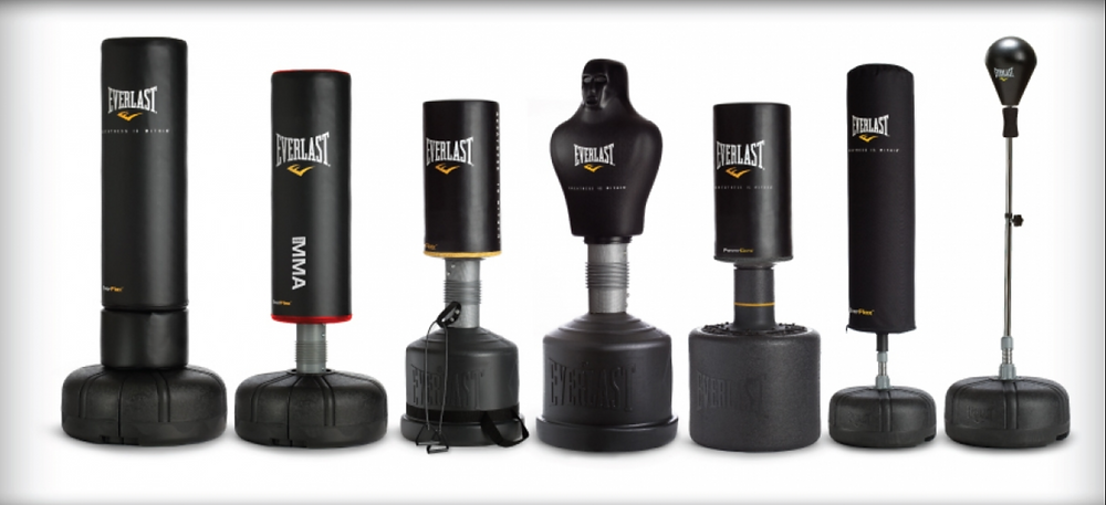 an image of a range of freestanding boxing bags
