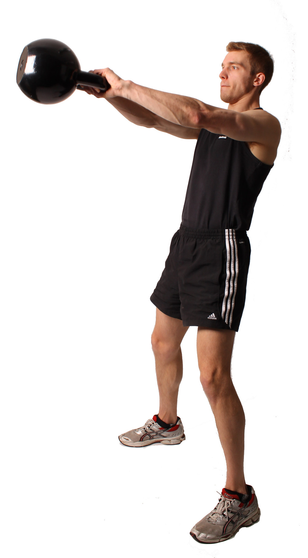 man performing the kettlebell swing