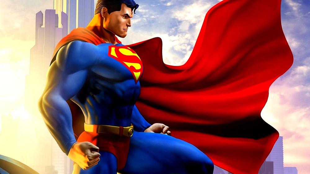 superman striking a bicep pose