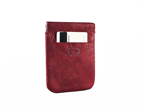 Bordeaux Red Leather Pocket Wallet