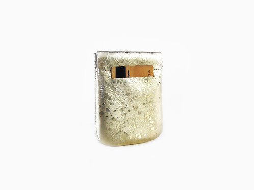MARBLE GOLD LEATHER POCKET WALLET