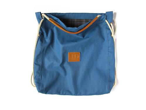 BLUE CANVAS MULTIWAY BACKPACK SACK BAG