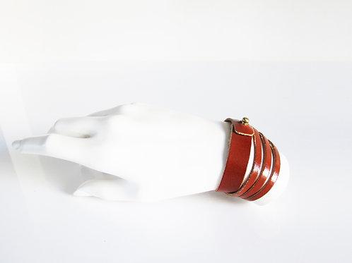 Whiskey Brown Leather Bracelet