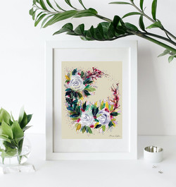 white blooms- white on white - 2