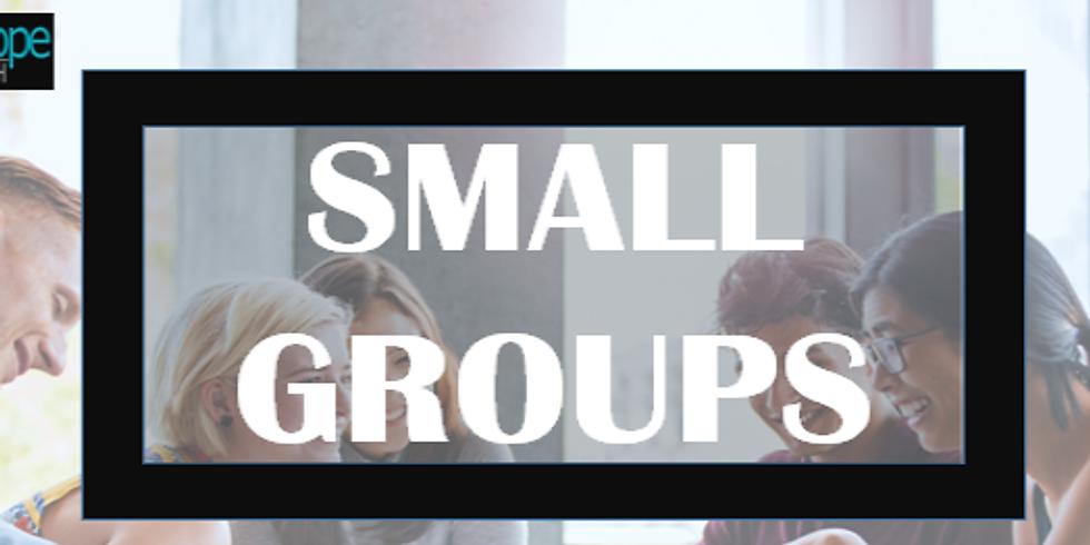 Small Groups Kickoff Sunday