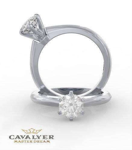 טבעת סוליטר CLS4