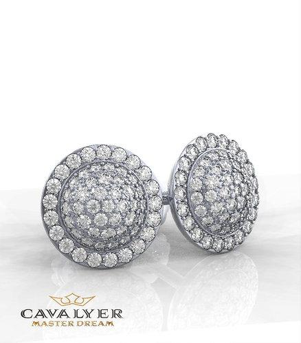 עגילי יהלומים בשילוב אבני צדE-3