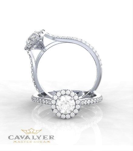טבעת אירוסין דגם פרח