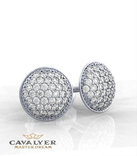 עגילי יהלומים בשילוב אבני צדE-11