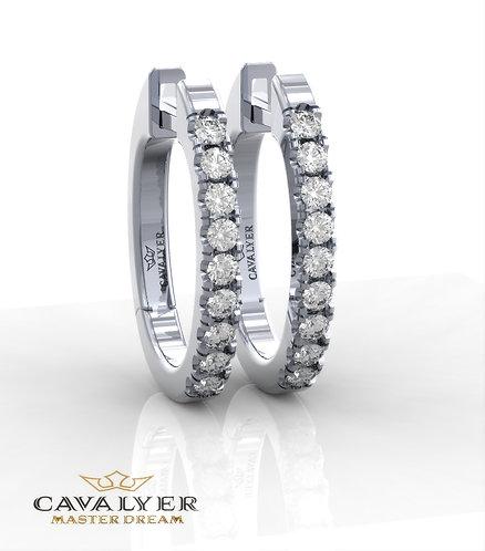 עגילי יהלומים בשילוב אבני צדE-6