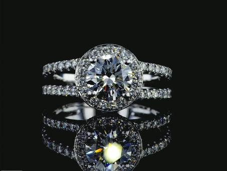 טבעת יהלום מעודנת