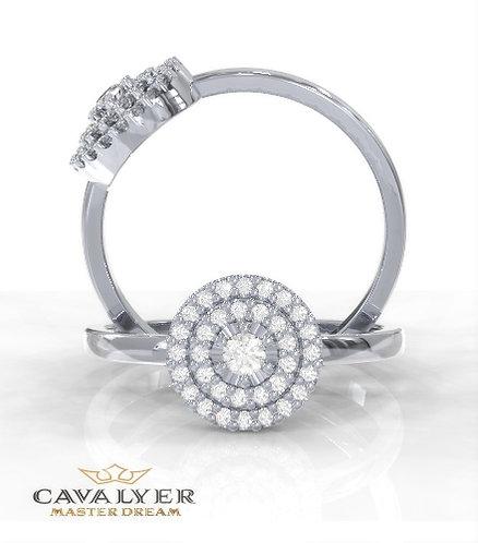 טבעת אופנה -דגם היילו עגול כפול