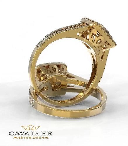 טבעת אופנה -דגם היילו כפול