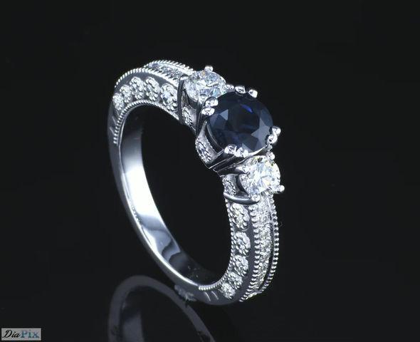 טבעת יהלום עדינה
