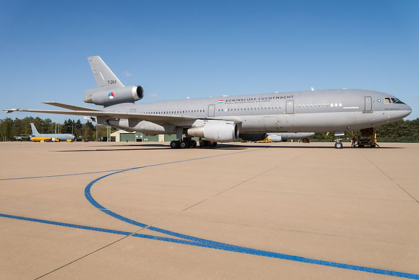 A KDC-10 tanker aircraft of the Royal Netherlands Air Force.
