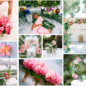 Pink Tropical Wedding Inspiration