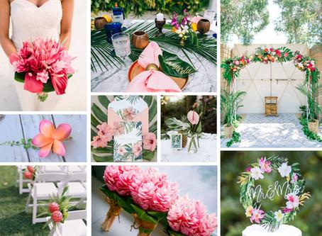 Pink Tropical Wedding Inspiration