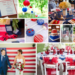 Red, White and Blue Wedding