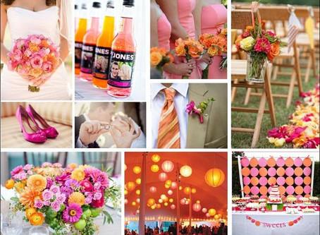 Pink & Orange Wedding