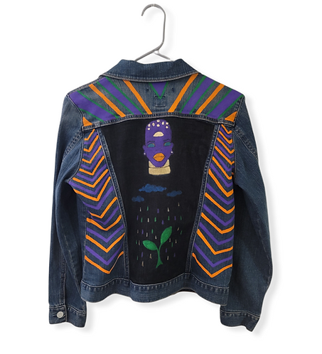 Hand Painted Jeans Jacket