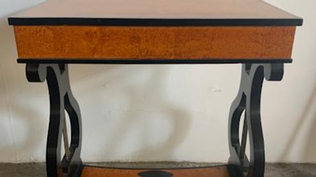 Biedermeier veneered side table