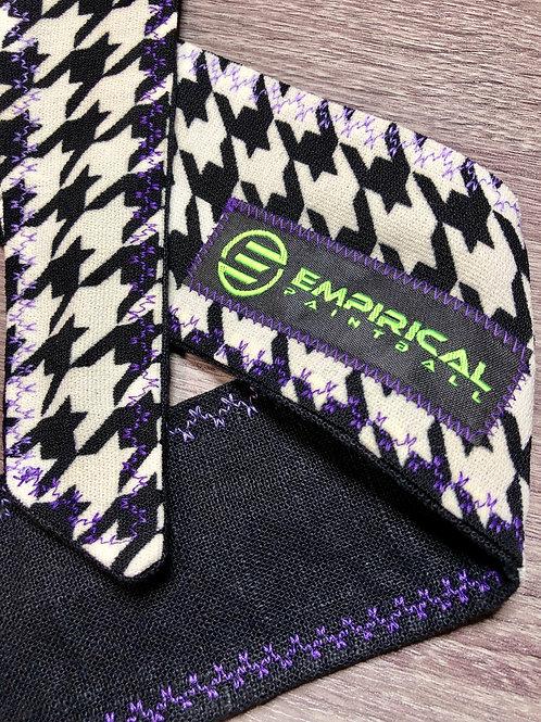 Houndstooth Headband - Purple Stitching