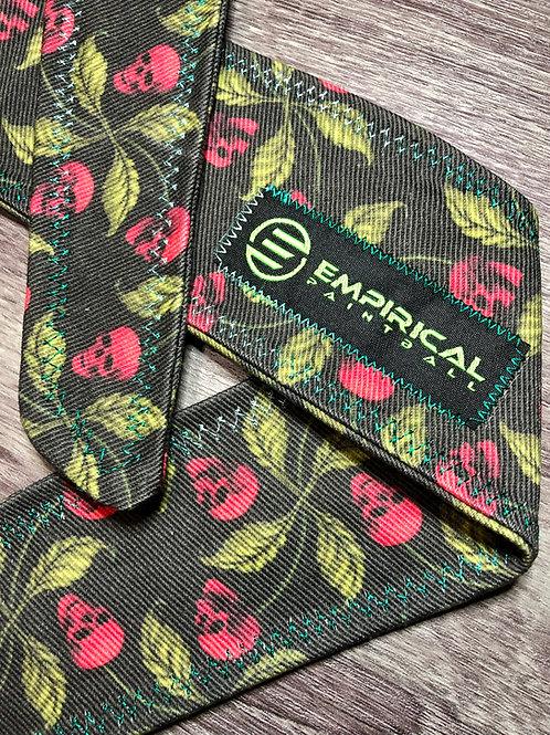 Red Skull Leaf Headband - Teal Fade Stitching