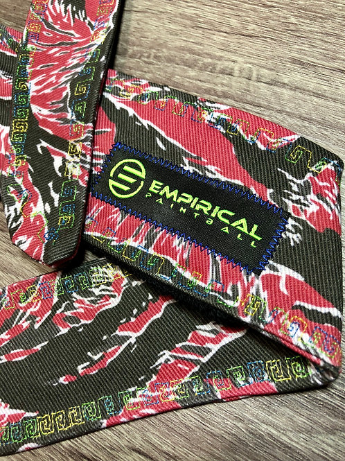 Empirical Paintball - Red Tiger Stripe Headband - Blue/Yellow Stitching - Main