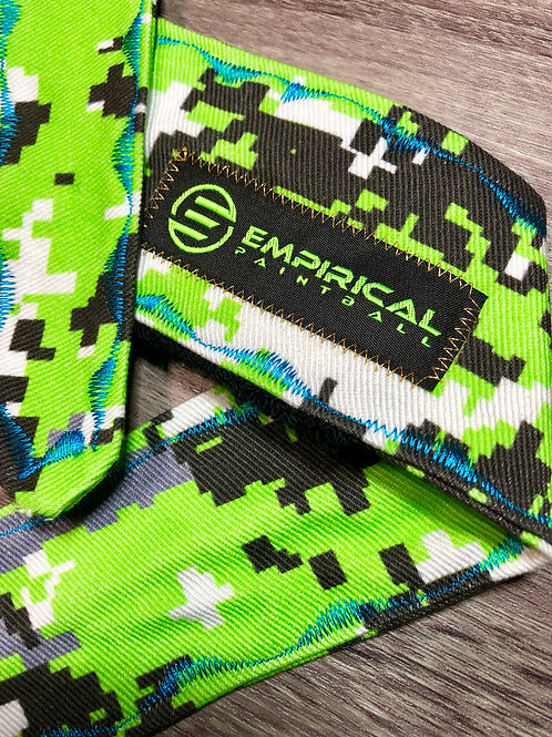 Empirical Paintball - Zombie Green Digital Camo Headband - Blue Stitching - Main