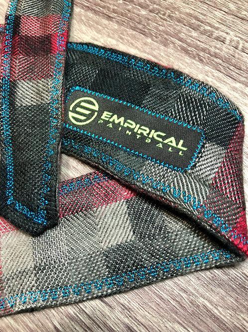 Empirical Paintball - Red Soft Plaid Headband - Electric Blue Stitching - Main