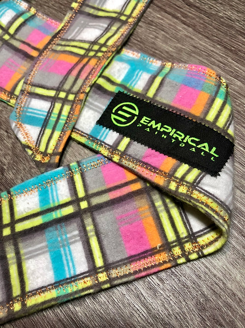 Empirical Paintball - Bright Plaid Ice Headband - Gold Stitching Main