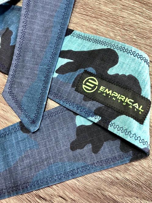 Empirical Paintball - Blue Camo Headband w/ Patch - Extra Wide Main